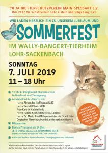 Jubiläumsfeier - 70 Jahre Tierschutzverein Main-Spessart e.V. @ Wally-Bangert-Tierheim